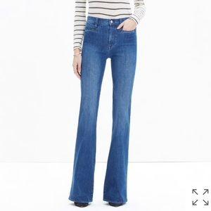Madewell Flea Market Flare Jeans in Kara Wash